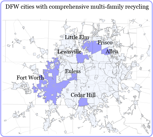 DFW commercial recycling coverage map-01