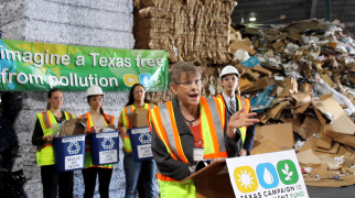 Diane Tasian, a Dallas condo owner, speaking in support of expanded recycling access