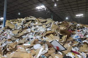 Most of the recycled product at this facility is mixed paper and cardboard